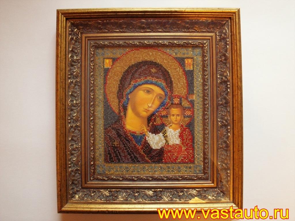 Икона казанской божьей матери вышивка бисером фото 97